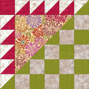 Berry Basket Quilt Block Pattern
