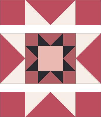 12 Rising Star Quilt Block Pattern