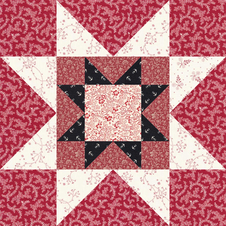 12 Quot Rising Star Quilt Block Pattern