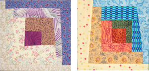 Wonky Log Cabin Quilt Blocks