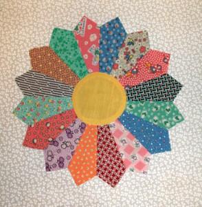 Dresden Plate Quilt Block Pattern