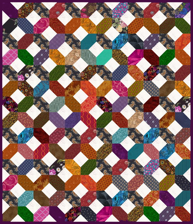 Easy Scrap Quilt Block Patterns : Easy Scrap Quilt Pattern, Make an X s and O s Quilt