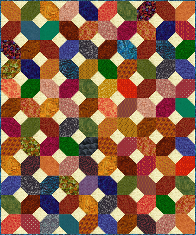 Easy Scrap Quilt Pattern, Make an X s and O s Quilt